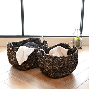 b72052a85b1b 2 Piece Wicker Basket Set