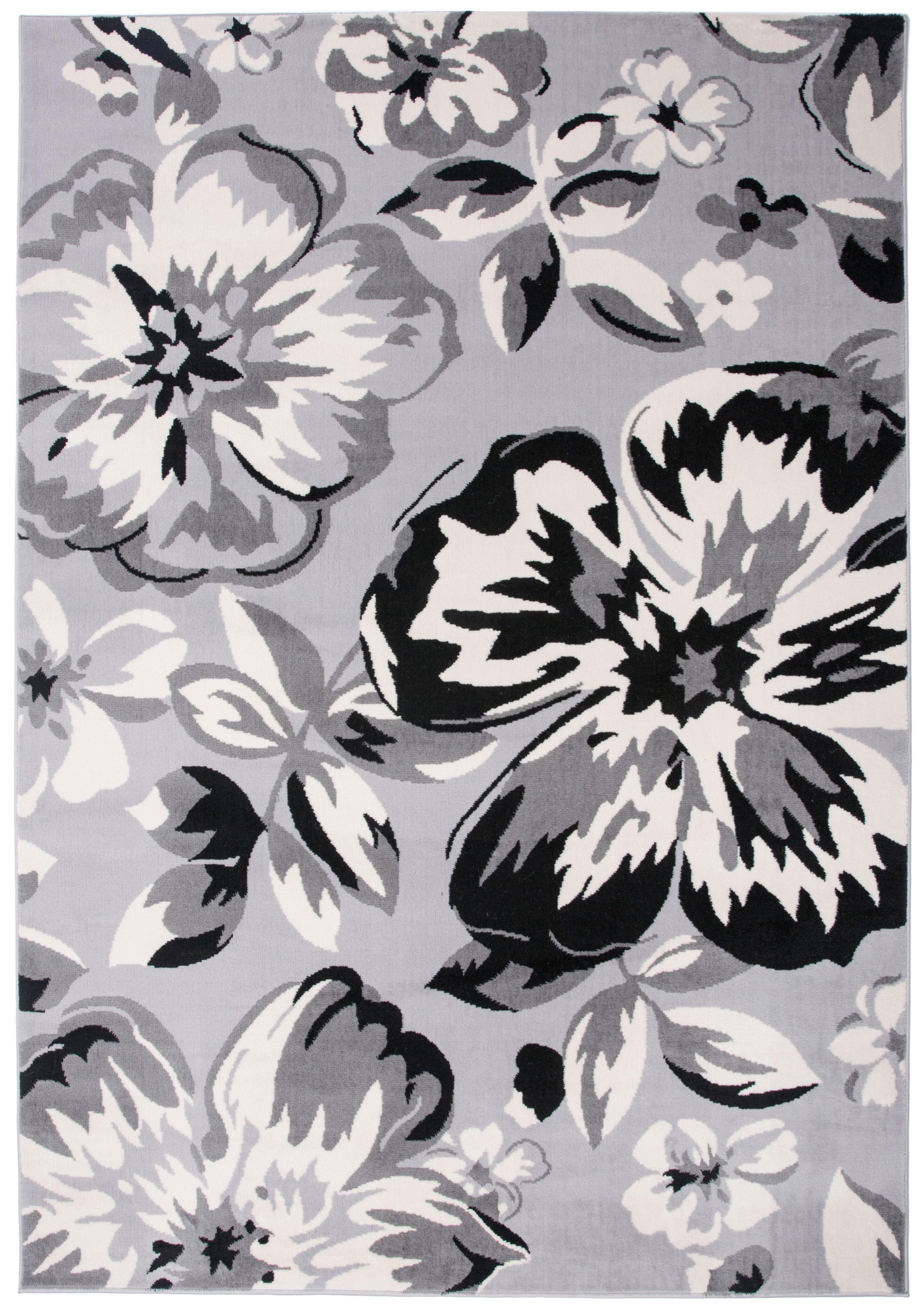 0062678d080 Andover Mills Ericson Floral Circles Gray Area Rug   Reviews