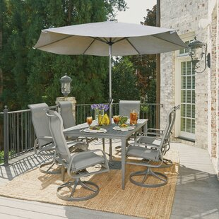 Red Barrel Studio Dinapoli Outdoor 7 Piece Dining Set with Umbrella
