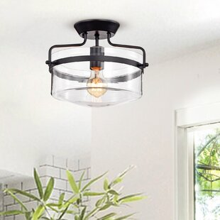 Banville 1-Light Semi Flush Mount by Gracie Oaks