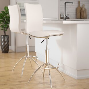 Online Reviews Guttenberg Adjustable Height Swivel Bar Stool (Set of 2) by Wade Logan Reviews (2019) & Buyer's Guide