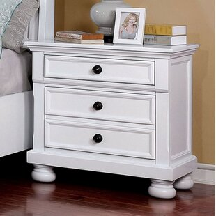 Kristina 3 Drawer Nightstand by Alcott Hill