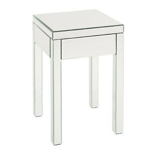 Price Check Luedtke Mirrored End Table by Rosdorf Park