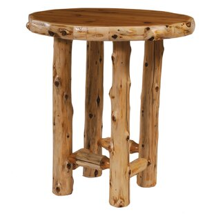 Traditional Cedar Log Dining Table by Fireside Lodge Reviews