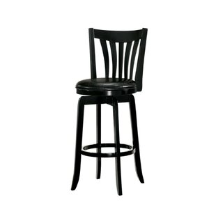 Parodi Wooden 29 Swivel Bar Stool
