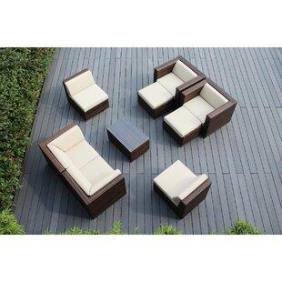Ohana 9 Piece Sunbrella Sectional Set with Cushions by Ohana Depot