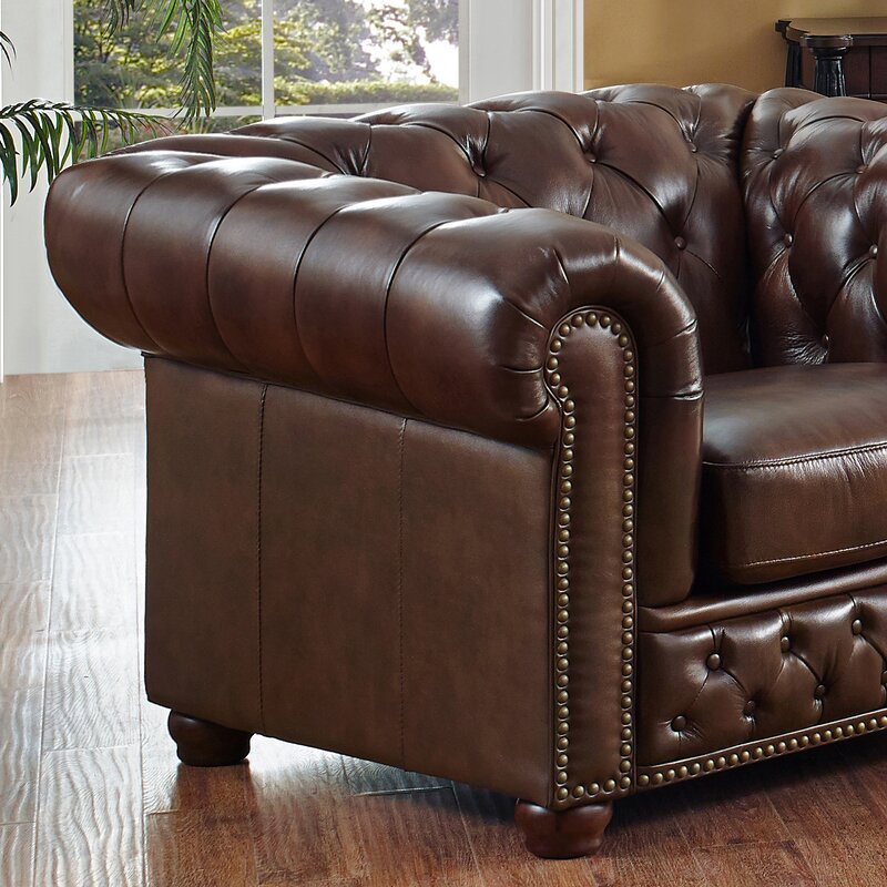 Antique Leather Chesterfield Sofa In