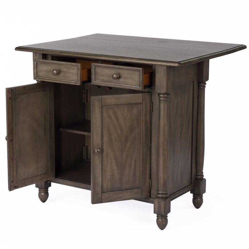 Darby Home Co Aldous Sunset Trading Shades Drop Leaf Kitchen Island
