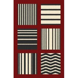 Bargain Borba Red Area Rug ByEbern Designs