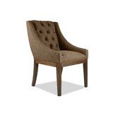 Haley Tufted Linen Upholstered Dining Chair by Darby Home Co