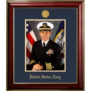Navy Portrait Classic Picture Frame By Patriot Frames
