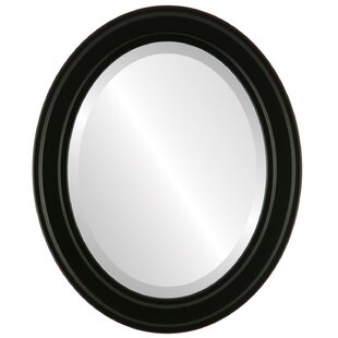 Charlton Home Wimbled Framed Oval Accent Mirror