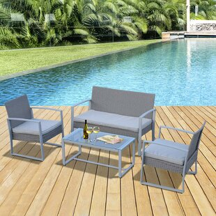 Beikirch 4 Seater Rattan Sofa Set By Sol 72 Outdoor