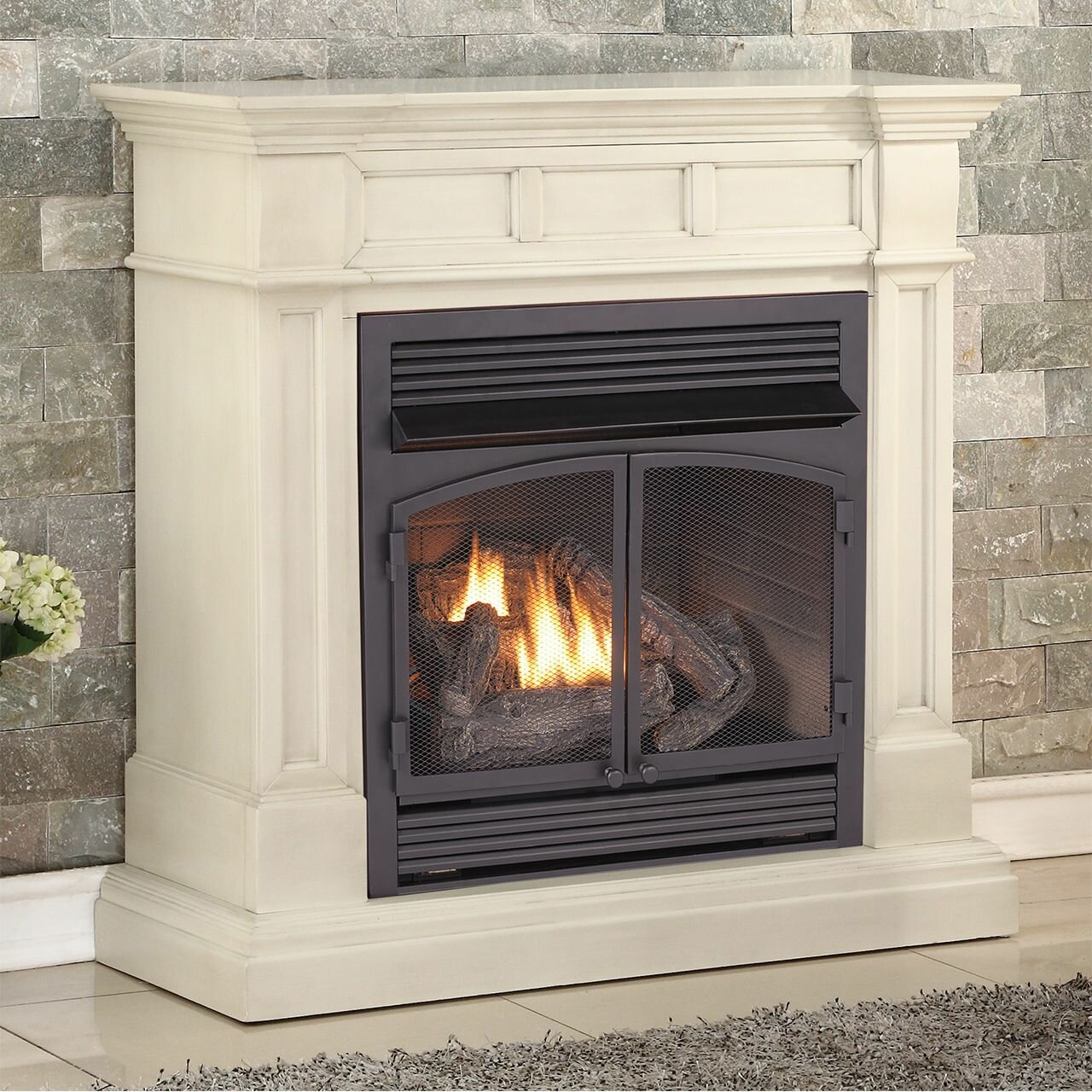 Duluth Forge Vent Free Freestanding Natural Gas Propane Fireplace