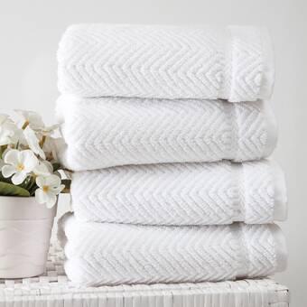 Breakwater Bay Vandewa Luxury 4 Piece Turkish Cotton Washcloth Towel Set Wayfair