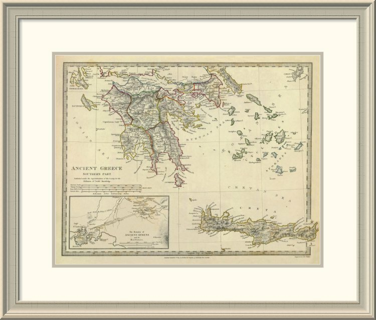 East Urban Home Ancient Greece Southern 1829 Framed Print Wayfair