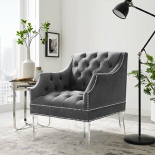 Bargain Propst Tufted Button Accent Performance Velvet Armchair by House of Hampton Reviews (2019) & Buyer's Guide