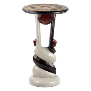 Penem African Twist Wood End Table by Blo..