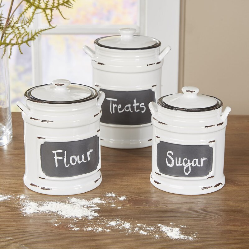 kitchen canister set birch lane dupree 3 piece kitchen canister set reviews