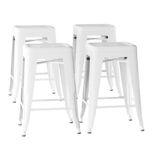 Olivarez Metal 24 Bar Stool (Set of 4) by Williston Forge