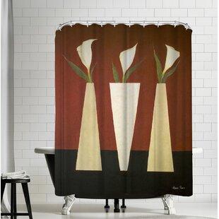 Hans Paus Stylish Flowers Single Shower Curtain