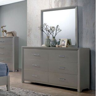 Wrought Studio Aahil 6 Drawer Double Dresser