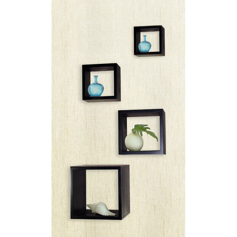 Flanigan 4 Piece Cube Wall Décor Set