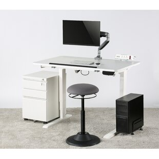 DeSoto Electric Standing Desk with Hutch