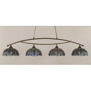 Astoria Grand Austinburg 4-Light 150W Metal Kitchen Island Pendant