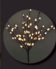 Hi-Line Gift Ltd. 2 Piece Willow Branches with 60 Lights and AC Adaptor