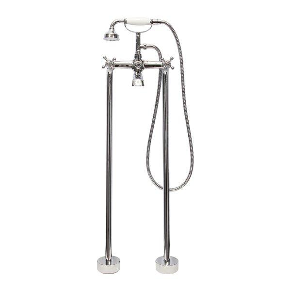 Dyconn Faucet Double Handle Floor Mount Tub Filler Faucet With Hand Shower  U0026 Reviews   Wayfair