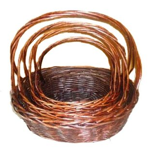 Check Prices Oval Handle Willow Wicker Basket By Alcott Hill