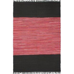 Compare & Buy Denice Black/Dark Pink Open Field Area Rug ByEbern Designs