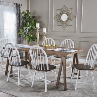 Pilla Cottage Faux Wood 7 Piece Dining Se..