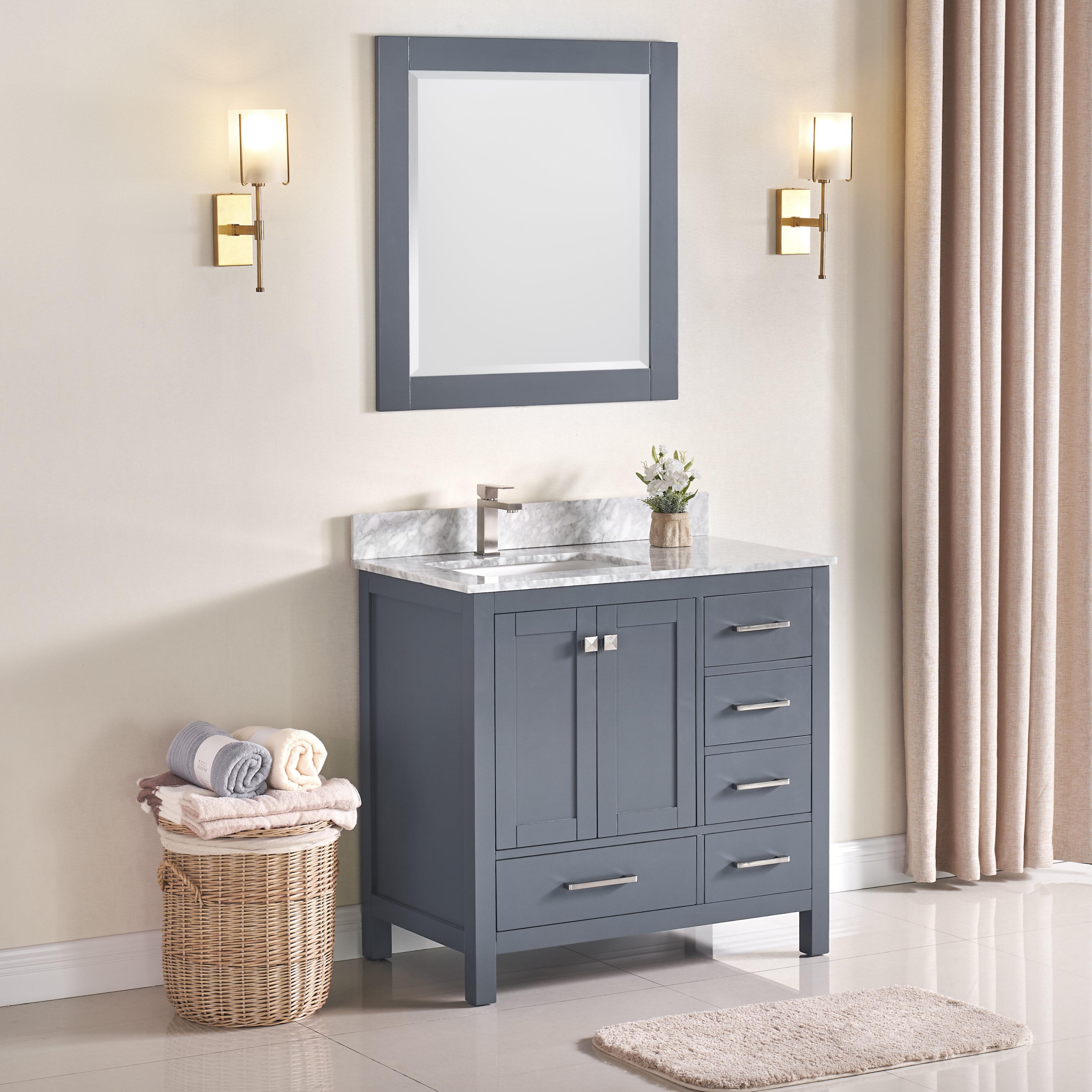 Charlton Home Exquisite Home 36 Single Bathroom Vanity Set With Mirror Wayfair