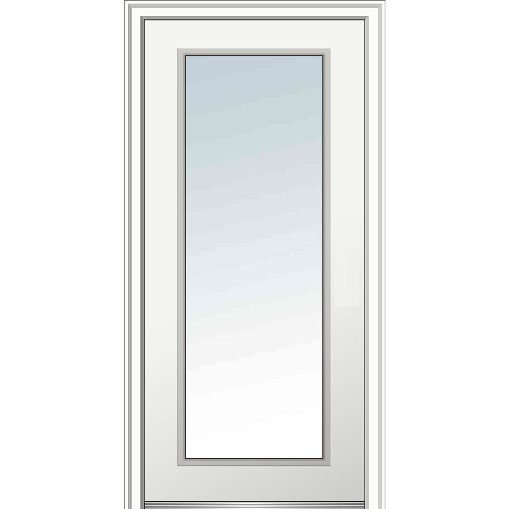 Merveilleux Verona Home Design Full Lite Primed Prehung Front Entry Door | Wayfair
