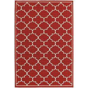 Perfect Duncan Red/Ivory Indoor/Outdoor Area Rug