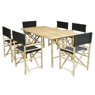 Collin 7 Piece Solid Wood Dining Set Bay Isle Home