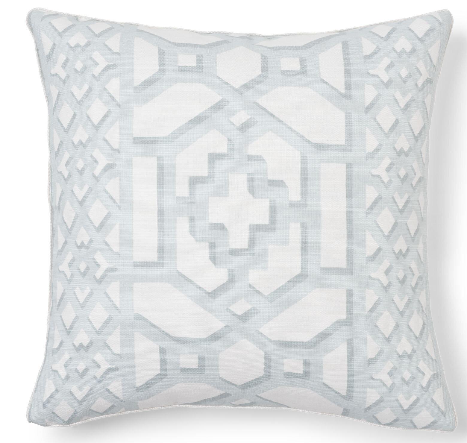 Schumacher Zanzibar Trellis Matte Throw Pillow Wayfair
