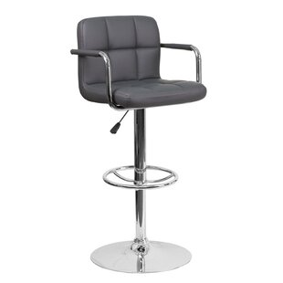 Eamor Adjustable Height Swivel Bar Stool ..