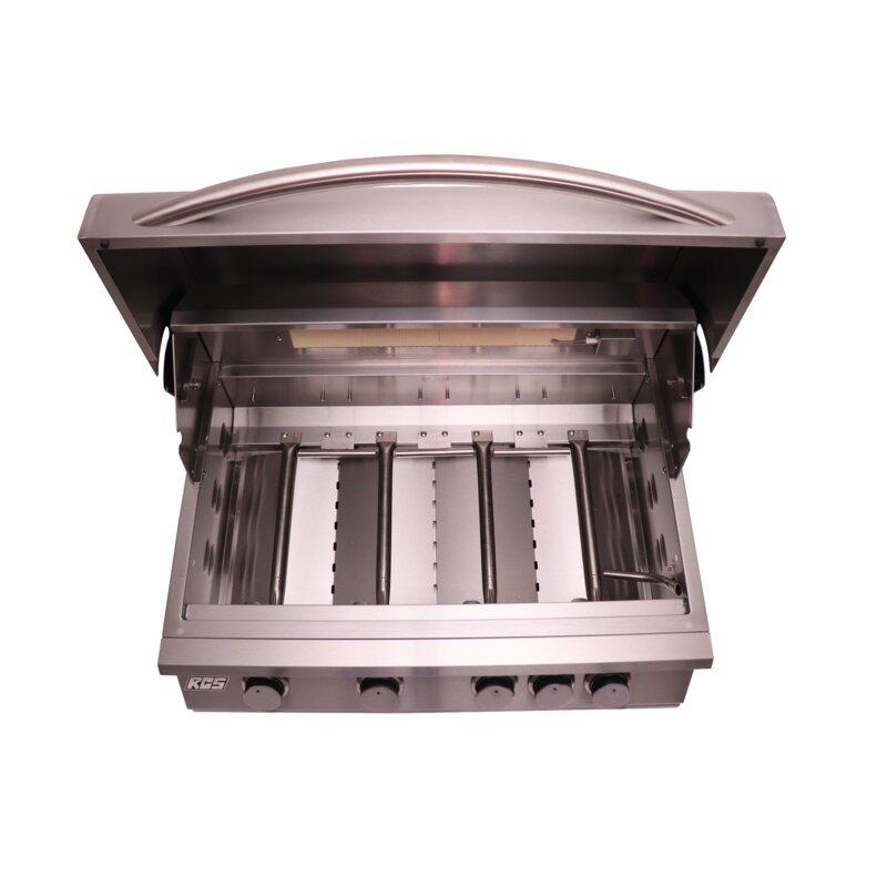Renaissancecookingsystems Rcs Premier 4 Burner Built In Convertible Natural Gas Grill Wayfair