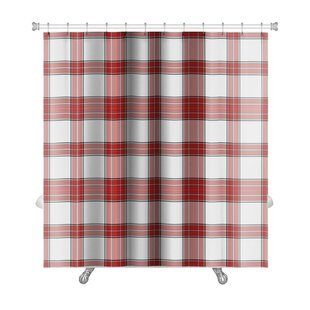 Picnic Bright Plaid Premium Single Shower Curtain