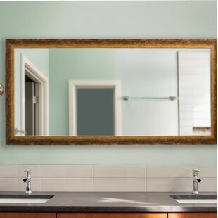 Extra Large Tarnished Smooth Distressed Accent Mirror