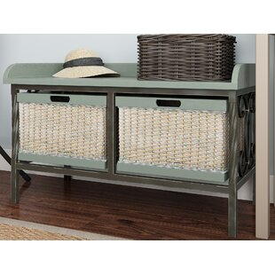Lindy Wood Storage Bench by Highland Dunes