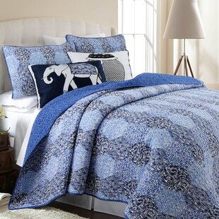 Reale Bohemian 100% Cotton 3 Piece Queen Reversible Quilt Set by World Menagerie Cheap