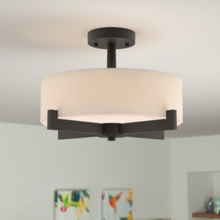 Jerrod 3-Light Semi Flush Mount by Zipcode Design