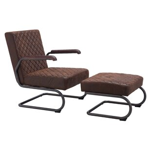 Leduc Armchair and Ottoman by Trent Austin Design