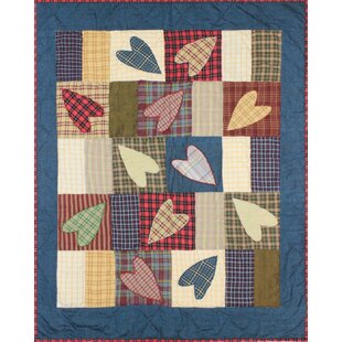 Compare prices Uma Hearts Crib Quilt ByAugust Grove