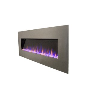 Brass Work Stainless Wall Mounted Electric Fireplace by Orren Ellis