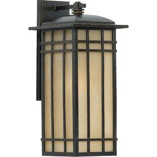 Three Posts Woodard 1-Light Linen Glass Outdoor Wall Lantern